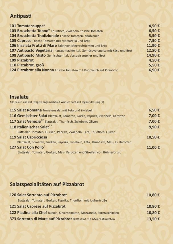Antipasti / Insalate des Ristorante Am Silbersee